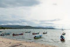 рыболовство свободного полета шлюпки ближайше Стоковое Фото