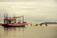 рыболовство шлюпки тайское Стоковое фото RF