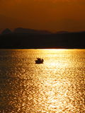 Рыболовы в заходе солнца Стоковое фото RF