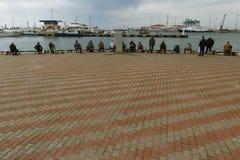 Рыболовы в Сочи Стоковая Фотография