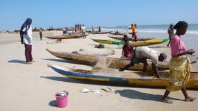 Рыболовы в Morondava. Мадагаскар Стоковое Изображение RF