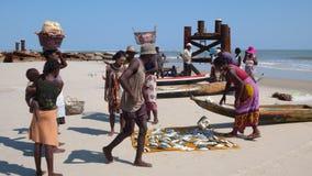 Рыболовы в Morondava. Мадагаскар Стоковое Фото