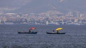Рыболовы дилетанта на Rowboats Стоковые Фото