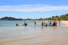 Рыболовы на Бенгалии преследуют, Мьянма Стоковые Фотографии RF
