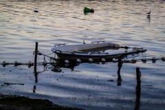 Рыболовы приютят на старой Марине Стоковые Фотографии RF