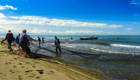 Рыболовы Georgia Чёрное море Стоковая Фотография RF
