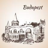 рыболов Венгрия s budapest бастиона иллюстрация штока