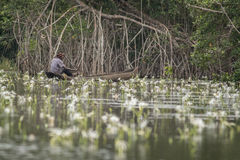 Рыболов в Африке Стоковые Фотографии RF