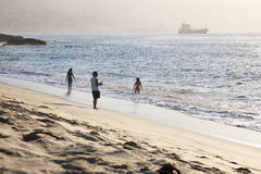 Рыболов в Вальпараисо Стоковое Изображение RF