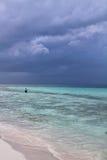 Рыболов в кокосах Cayo Стоковая Фотография