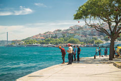 Рыболов в Стамбуле Стоковое Фото