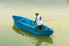 Рыболов в Puerto Lopez, Manabi, эквадоре Стоковое Изображение RF