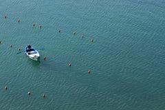 Рыболов в Vernazza, Cinque Terre Стоковое фото RF