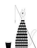 Рыболов кота Стоковое фото RF