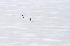 Рыболов 2 на льде Стоковые Изображения