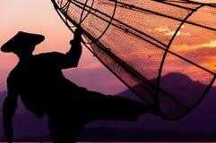 Рыболов озера Inle Стоковое Фото