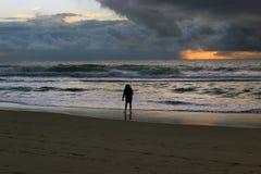 рыболов пляжа Стоковые Изображения RF