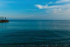 рыболов пляжа Стоковое фото RF