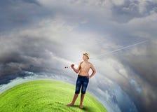 Рыболов ребенк Стоковое Изображение