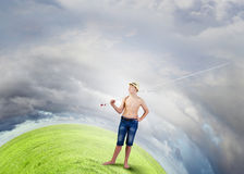 Рыболов ребенк Стоковая Фотография RF