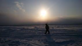 Рыболов Сахалина стоковая фотография