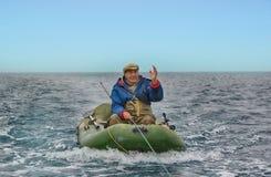 рыболов старый Стоковая Фотография