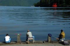Рыболов lake Стоковые Фото