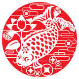 Рыбы везения для праздновать лунный Новый Год Стоковое Изображение