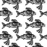 Рыбы вектора, океан Стоковые Изображения