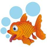Рыбы вектора оранжевые с пузырями Стоковая Фотография