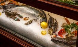 Рыбы витрины с лимоном Стоковая Фотография