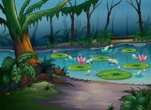 Рыбы в джунглях иллюстрация вектора