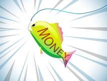Рыбы в крюке Стоковое Фото