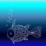 Рыбы в море иллюстрация штока