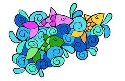 Рыбы в океане Стоковые Изображения RF