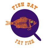 Рыбы в лотке также вектор иллюстрации притяжки corel Иллюстрация вектора