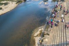 Рыбы - в реке - проточная вода Sringeri стоковая фотография rf