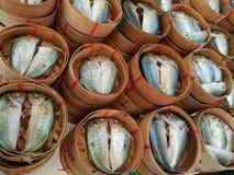 Рыбы в рынке морепродуктов Стоковая Фотография RF