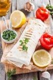 Рыбы в хлебе, в пита Турецкая кухня Стоковые Фото