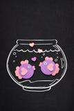Рыбы влюбленности Стоковое Изображение RF