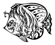 Рыбы в doodling стиле Стоковое Фото