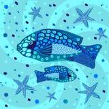 Рыбы, графическая картина Стоковые Фото