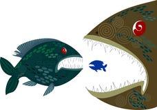 рыбы Глубок-моря Иллюстрация вектора