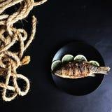 рыбы зажарили Стоковые Изображения RF