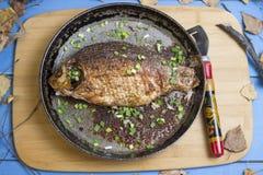 рыбы зажарили Стоковые Изображения