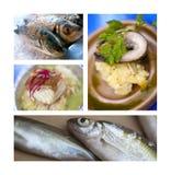 Рыбы и еда в ресторане Стоковые Фотографии RF