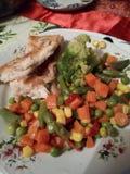 Рыбы и мексиканские овощи Стоковая Фотография RF