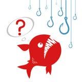 Рыбы и много крюков бесплатная иллюстрация