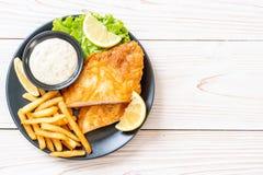 рыбы и обломоки стоковое изображение