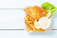 рыбы и обломоки стоковая фотография rf